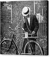 Bicycle Radio Antenna, 1914 Canvas Print by