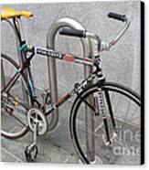 Bicycle With Stickers Canvas Print by Wingsdomain Art and Photography