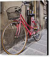 Bicycles Parked In The Street Canvas Print by Jeremy Woodhouse