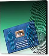Biometric Id Card Canvas Print by Victor Habbick Visions