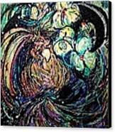 Bird And Flowers Canvas Print by YoMamaBird Rhonda