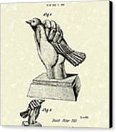 Bird In The Hand Coin Bank 1943 Patent Art Canvas Print by Prior Art Design