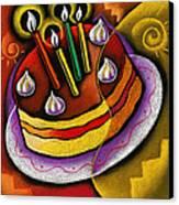 Birthday  Cake  Canvas Print by Leon Zernitsky