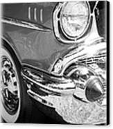 Black And White 1957 Chevy Canvas Print by Steve McKinzie