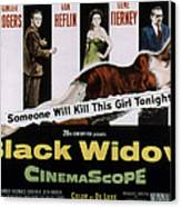 Black Widow, Ginger Rogers, Van Heflin Canvas Print by Everett