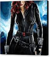Black Widow Canvas Print by Tom Carlton