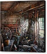 Blacksmith - That's A Lot Of Hoopla Canvas Print by Mike Savad