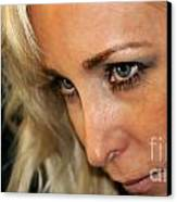 Blond Woman Strict Canvas Print by Henrik Lehnerer
