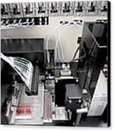 Blood Analysis Machine Canvas Print by Tek Image