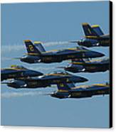 Blue Angels Take 6 Canvas Print by Samuel Sheats