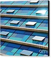Blue Facade Canvas Print by Carlos Caetano