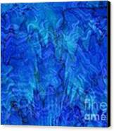 Blue Glass - Abstract Art Canvas Print by Carol Groenen