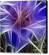 Blue Hibiscus Fractal Panel 2 Canvas Print by Peter Piatt