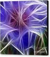 Blue Hibiscus Fractal Panel 5 Canvas Print by Peter Piatt