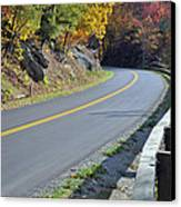 Blue Ridge Parkway Autumn Road Canvas Print by Bruce Gourley