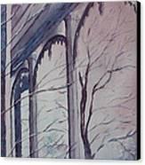 Blue Snow Canvas Print by Patsy Sharpe