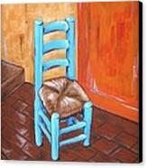 Blue Vincent Canvas Print by JW DeBrock