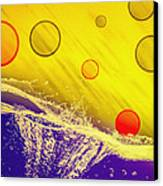 Blue Yellow Red Canvas Print by Bob Orsillo