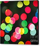 Blurred Christmas Lights Canvas Print by Elena Elisseeva
