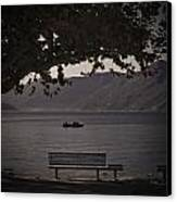 boat on the Lago Maggiore Canvas Print by Joana Kruse