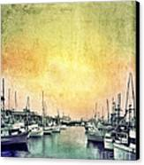 Boats In The Harbor Canvas Print by Jill Battaglia