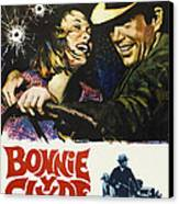 Bonnie And Clyde, Faye Dunaway, Warren Canvas Print by Everett