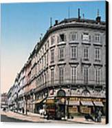 Bordeaux - France - Rue Chapeau Rouge From The Palace Richelieu Canvas Print by International  Images