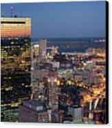 Boston By Night. Canvas Print by Linh H. Nguyen Photography