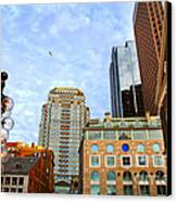 Boston Downtown Canvas Print by Elena Elisseeva