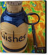 Bottle Of Wishes Canvas Print by Garry Gay