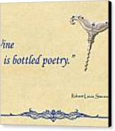 Bottled Poetry Canvas Print by Elaine Plesser
