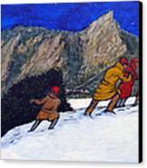 Boulder Christmas Canvas Print by Tom Roderick