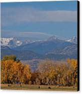 Boulder County Colorado Continental Divide Autumn View Canvas Print by James BO  Insogna
