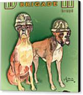 Boxer Brigade Chew Toys Canvas Print by Amelia Hunter