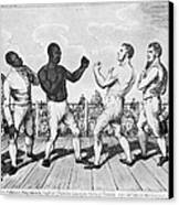 Boxing: Cribb V. Molineaux Canvas Print by Granger