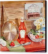 Breakfast At Copper Skillet Canvas Print by Irina Sztukowski