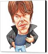 Brian Cox, Caricature Canvas Print by Gary Brown