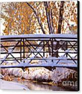 Bridge Over Icy Waters Canvas Print by James BO  Insogna
