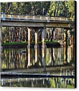 Bridge Over Ovens River 2 Canvas Print by Kaye Menner