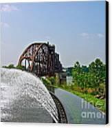 Bridge To The Past Canvas Print by Joe Finney