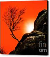 Brimham Sunset Canvas Print by Meirion Matthias