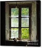 Broken Window. Canvas Print by Bernard Jaubert
