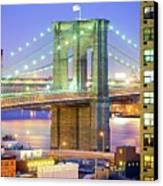 Brooklyn Bridge Canvas Print by Tony Shi Photography