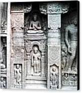 Buddha Carvings At Ajanta Caves Canvas Print by Sumit Mehndiratta