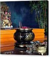 Buddhist Altar Canvas Print by Yali Shi