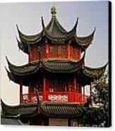 Buddhist Pagoda - Shanghai China Canvas Print by Christine Till