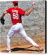 Bullpen Action Canvas Print by Carol Christopher
