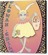 Bunnie Girls- Flowah Chile 1 Of 4  Canvas Print by Brenda Dulan Moore