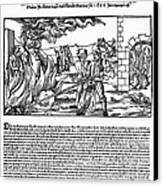 Burning Of Witches, 1555 Canvas Print by Granger