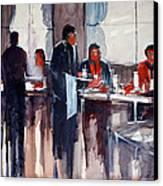 Business Lunch Canvas Print by Ryan Radke